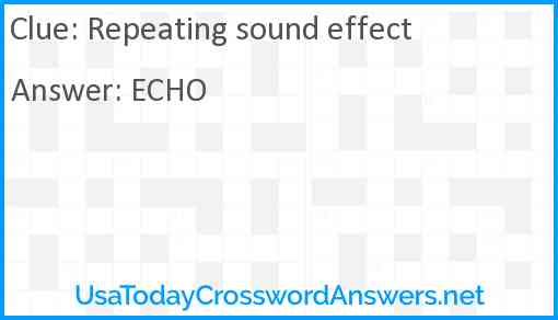 Repeating sound effect Answer