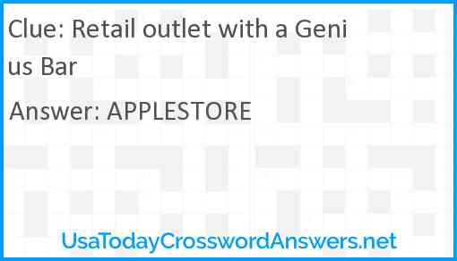 Retail outlet with a Genius Bar Answer