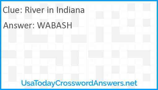 River in Indiana Answer