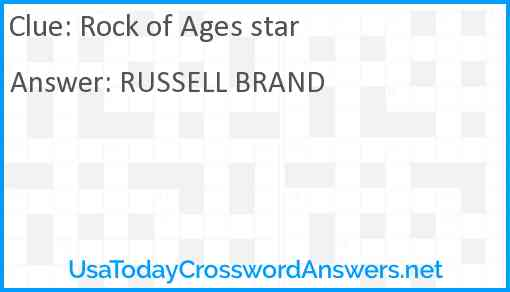 Rock of Ages star Answer