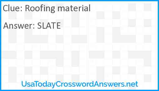 Roofing material Answer