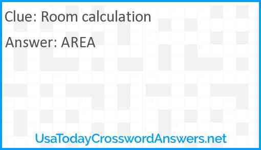 Room calculation Answer