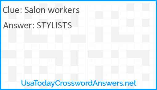 Salon workers Answer