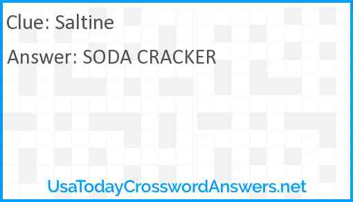 Saltine Answer