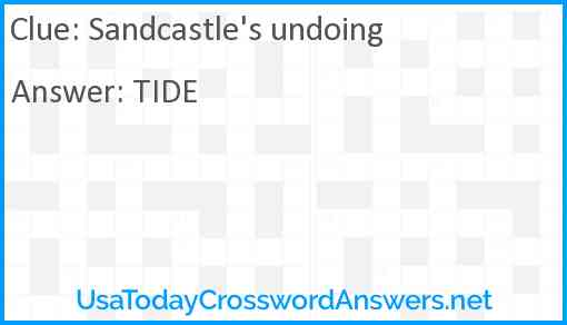 Sandcastle's undoing Answer