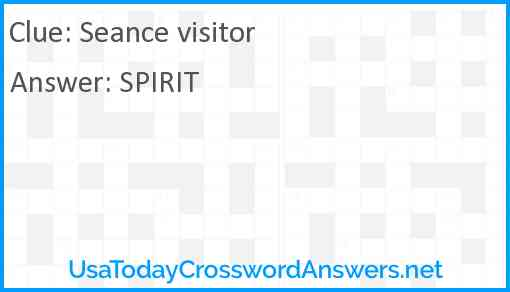 Seance visitor Answer