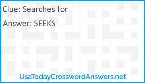 Searches for Answer