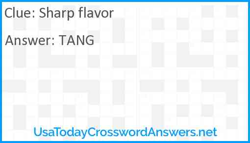 Sharp flavor Answer