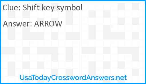 Shift key symbol Answer