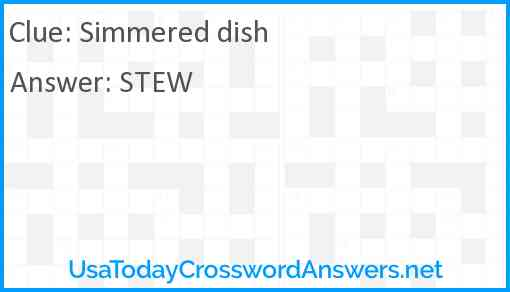Simmered dish Answer