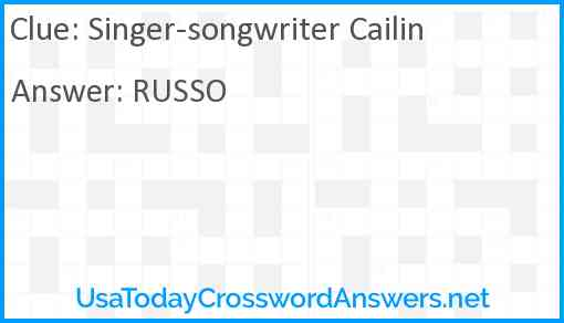 Singer-songwriter Cailin Answer
