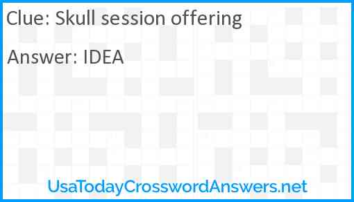 Skull session offering Answer