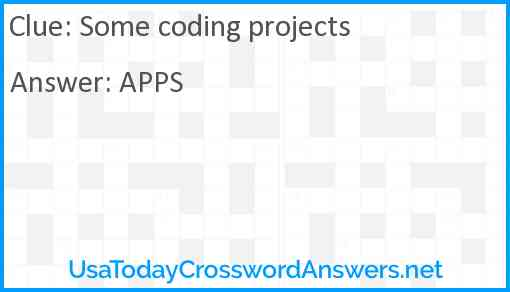 Some coding projects Answer