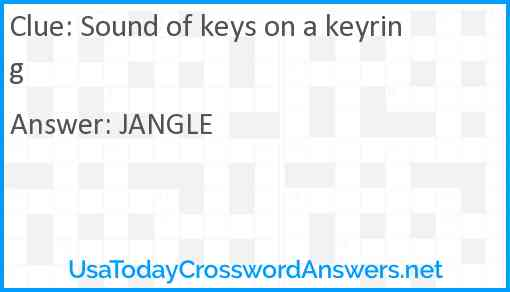 Sound of keys on a keyring Answer