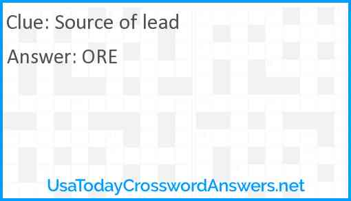 Source of lead Answer