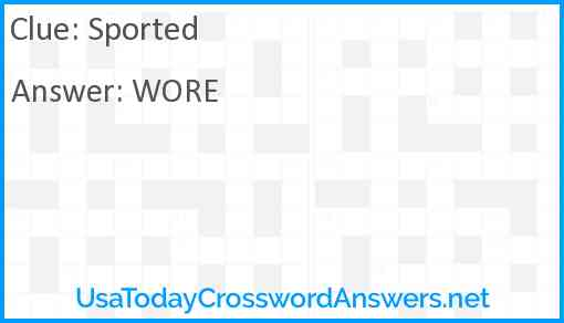 Sported Answer