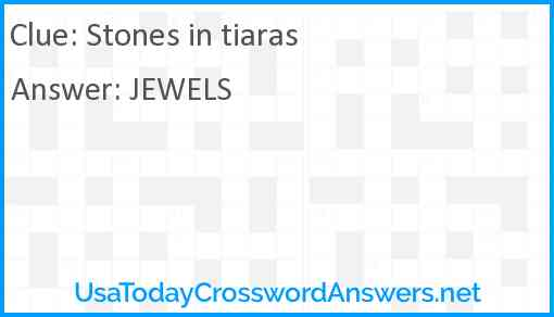 Stones in tiaras Answer