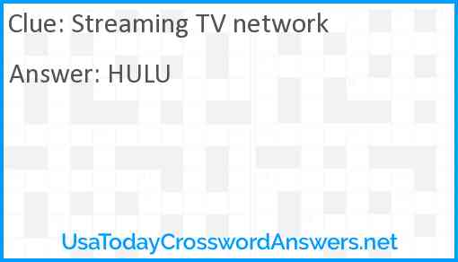 Streaming TV network Answer