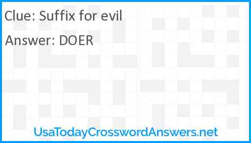 Suffix for evil Answer