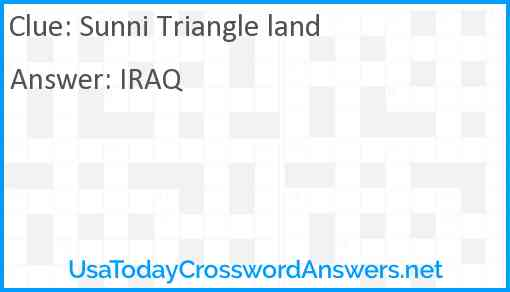 Sunni Triangle land Answer