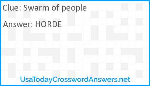 Swarm of people Answer