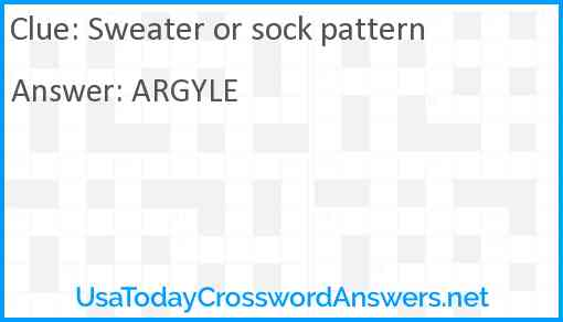Sweater or sock pattern Answer