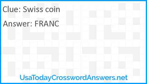 Swiss coin Answer