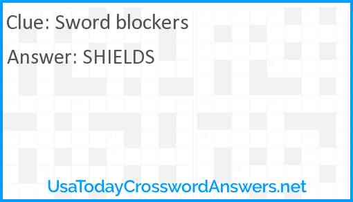 Sword blockers Answer