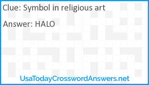 Symbol in religious art Answer
