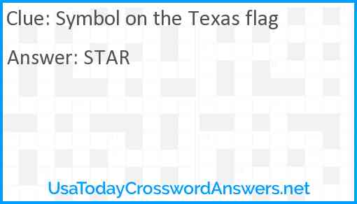 Symbol on the Texas flag Answer