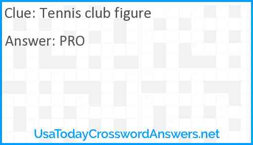Tennis club figure Answer
