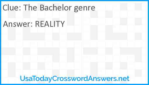 The Bachelor genre Answer
