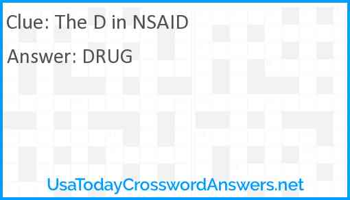 The D in NSAID Answer