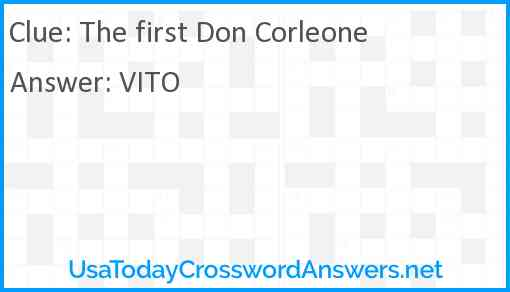 The first Don Corleone Answer