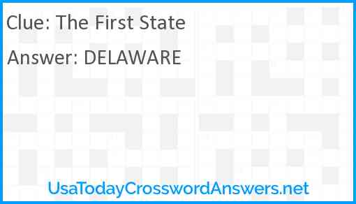The First State Answer