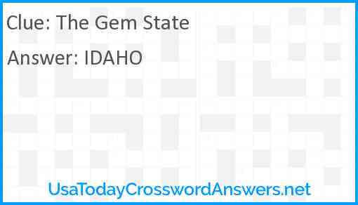 The Gem State Answer