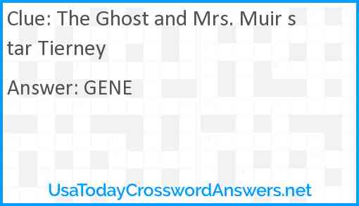 The Ghost and Mrs. Muir star Tierney Answer