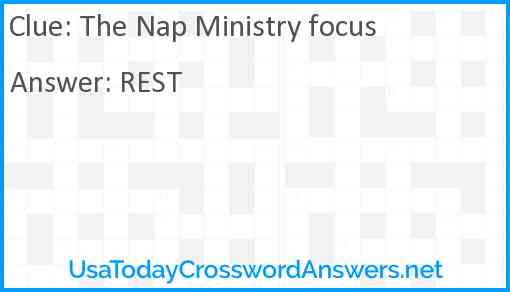 The Nap Ministry focus Answer
