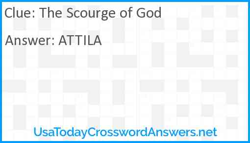 The Scourge of God Answer