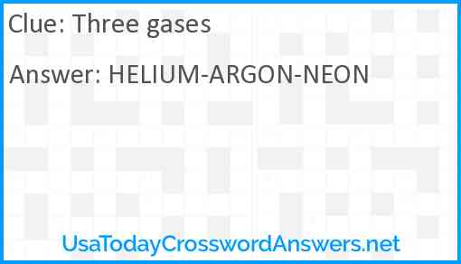 Three gases Answer