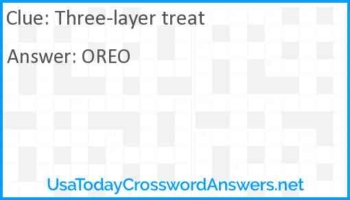 Three-layer treat Answer