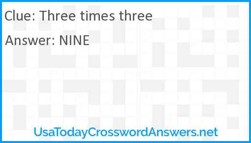 Three times three Answer