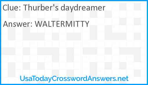 Thurber's daydreamer Answer