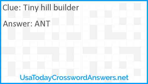 Tiny hill builder Answer