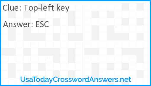 Top-left key Answer