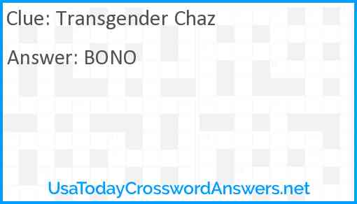 Transgender Chaz Answer
