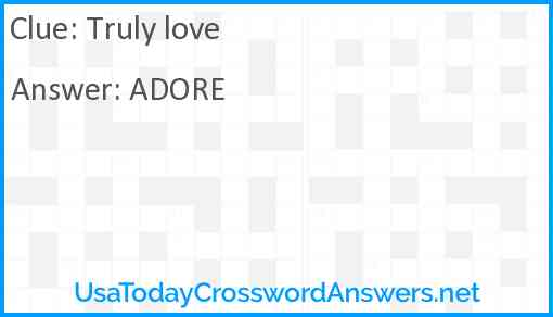 Truly love Answer
