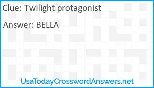 Twilight protagonist Answer