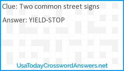 Two common street signs Answer