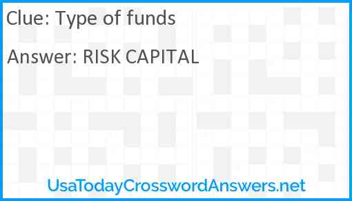 Type of funds Answer